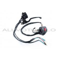 """Блоки кнопок руля (пара) Suzuki GS125 """"XVP"""" (черные, +рычаги, +крепление)"""