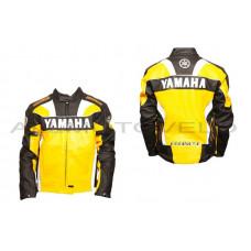 """Мотокуртка   """"YMH""""   (кожзам) (size:XXXL, желтая)"""