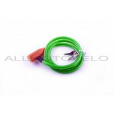 """Замок на колесо (трос 1000*10mm) (с ключом) """"YAT"""" (зеленый)"""