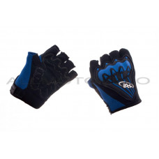 Велоперчатки (черно-синие, size XL)   AXE, пара