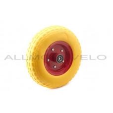 """Колесо   4,00 -6   TL   (бескамерное, под ось d-20мм )   """"MRHD""""   (желтое)"""