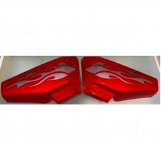 Боковая крышка Альфа (пара) красная MUSSTANG