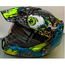 Шлем кроссовый NENKI MX-310 жёлто-синий