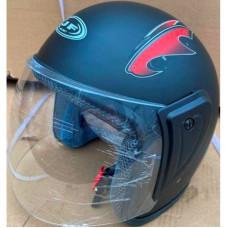 Шлем черный матовый без бороды (открытый)