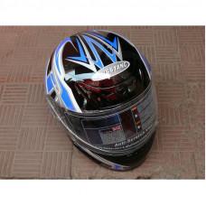 """Шлем """"Мустанг"""" В-38 черный с синим"""